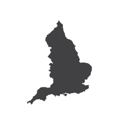 England map silhouette vector image vector image