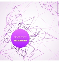 Geometrical background with purple lines vector