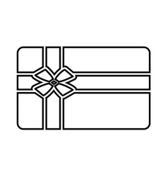 gift card black icon vector image vector image