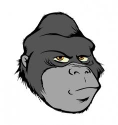 gorilla head vector image vector image