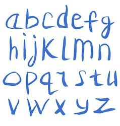 Grunge Handmade Calligraphy Watercolor Font vector image