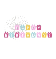 Happy birthday card isolated vector image
