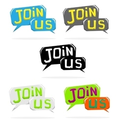 Join us speech cloud vector image