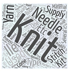 Knitting supplies word cloud concept vector