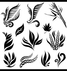 leaf design elements vector image vector image