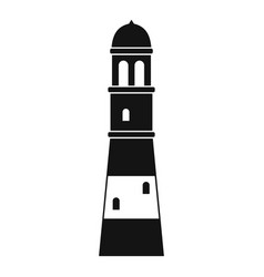 Lighthouse icon simple vector