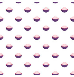 Mangosteen pattern seamless vector