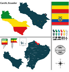 Map of carchi ecuador vector