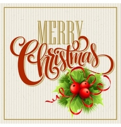 Merry Christmas Lettering Design vector image vector image