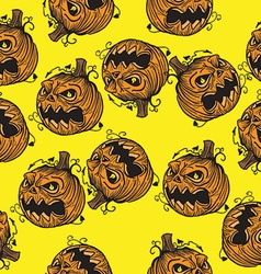 pumpkin head pattern vector image vector image
