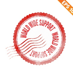 Rubber stamp world wide support - - eps10 vector