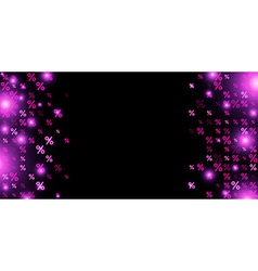 Sale background with percent vector image vector image