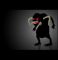 Scary monster lurking in the dark vector