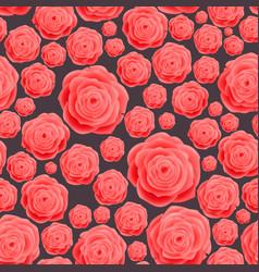Seamless vintage pink rose pattern raster vector