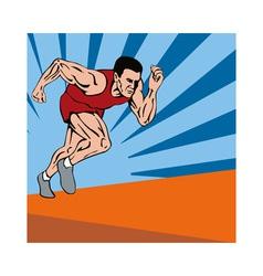 Sprinter Running vector image vector image