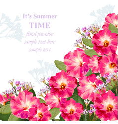 summer watercolor exotic flowers beauty vector image vector image