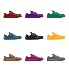 White sneakers unisex lace up shoes for sports vector