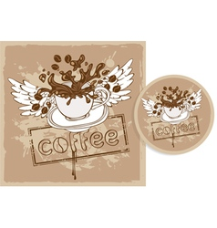 Coffee stand vector