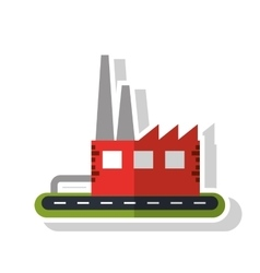 Isolated industry building design vector