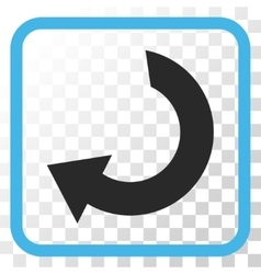 Rotate icon in a frame vector