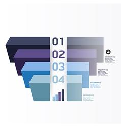 Modern Graph Design template vector image