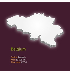 3d map of belgium vector