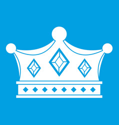 Prince crown icon white vector