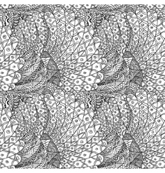 abstract hand drawn seamless background pattern vector image
