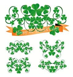 st Patrick ornaments vector image