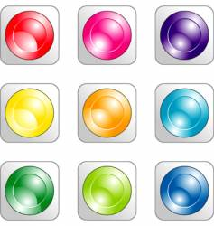 Set of color buttons vector
