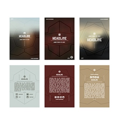 Set of poster templates vector