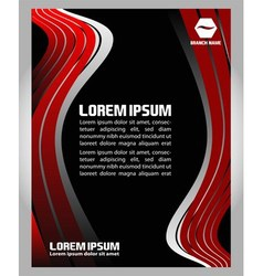 Professional business flyer black and red template vector