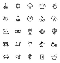 Zen concept line icons on white background vector