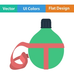 Flat design icon of touristic flask vector