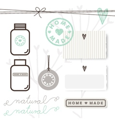 Homemade design elements vector image