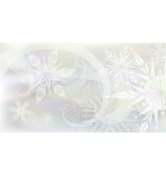 Christmas background with light snowflakes vector