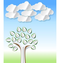 abstract paper trees vector image
