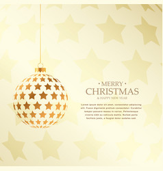 beautiful golden christmas balls design holiday vector image vector image