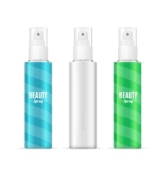 Beauty spray can package setrealistic cosmetic vector