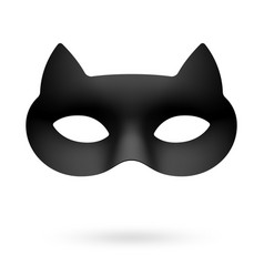 black cat masquerade eye mask vector image vector image