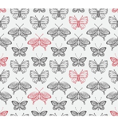 Butterflies pattern2 vector