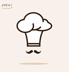 cap chef with a mustache vector image