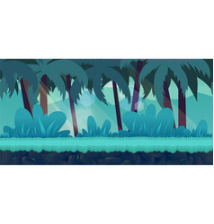 Cartoon jungle landscape unending vector