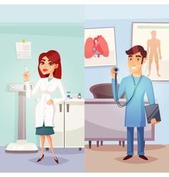Cartoon Medicine Vertical Banners vector image
