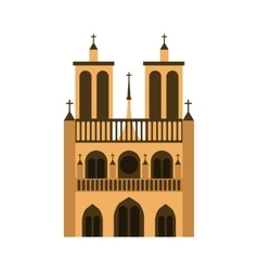Cathedral notre dame icon vector