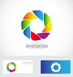 Color aperture photography shutter icon logo vector