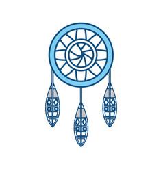 dreamcatcher in hippie style icon vector image