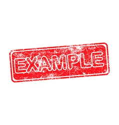 example red grunge rubber stamp vector image