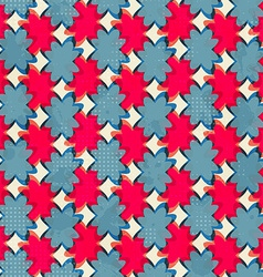 geometric flowers seamless pattern vector image