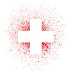 Graffiti white cross spray design element in white vector